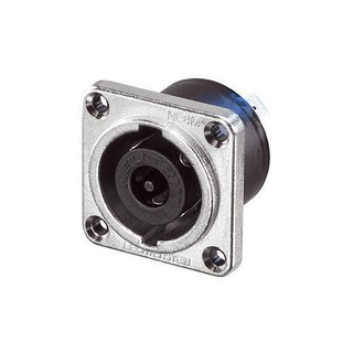Neutrik NLT8MP Speakon 8-pole male chassis connector, Nickel housing, solder or ¼ flat tabs